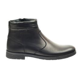 Crna Riko čizme su muške cipele s patentnim zatvaračem 825 crne boje