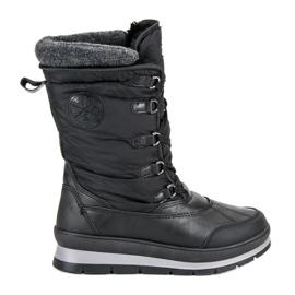 Mckeylor crna Modne crne čizme za snijeg