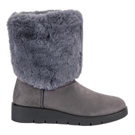 Kylie szürke Divatos téli cipő