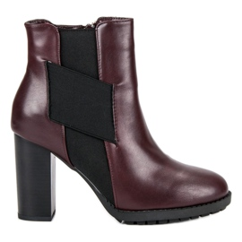 Kylie Burgundski čizme u baru crna
