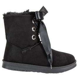 Kylie fekete Kötött hó cipő