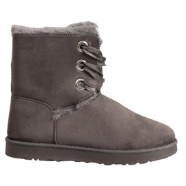 Kylie Vezane čizme za snijeg siva