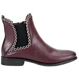Filippo Ležerne čizme Jodhpur crvena