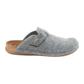 Papuče su osjećale pričvršćene Inblu TH014 sive siva