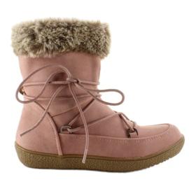 Rózsaszín Félcipő a szőrme számára K1647201 Rose