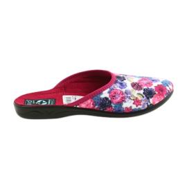 Papuče od velura Adanex 23773 šaren