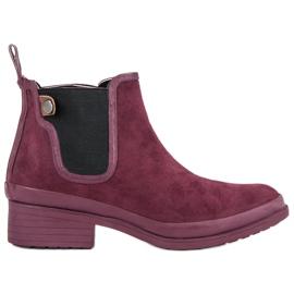 Kylie Čizme Jodhpur čizme crvena