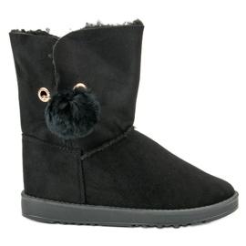 Crna Mukluki S ovčjim kaputom