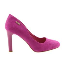 Sergio Leone roze Suede pumpe 1457