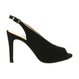 Edeo Suede sandale na štikle crna