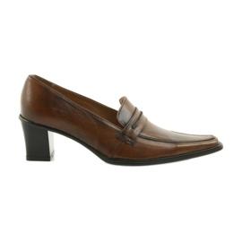 Kožne cipele Eksbut 864 smeđ