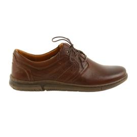 Riko muške cipele s niskim cipelama smeđe 870