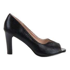 Crna Otvorene cipele Toe VINCEZA