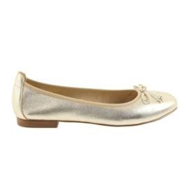 Sárga Caprice ballerinas aranycipő nőknek 22102