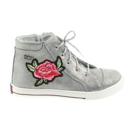 Ren But Cipele za cipele djevojke srebrne Ren Ali 4279 siva