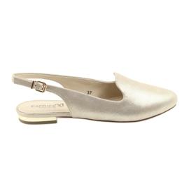 Žuti Zlatne cipele Caprice lordsy 29400