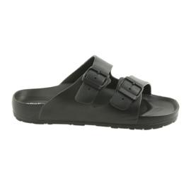 Crna Atletico muške crne papuče u obliku profila