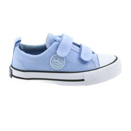 Velcro cipők American Club LH50 kék gyermekcipő