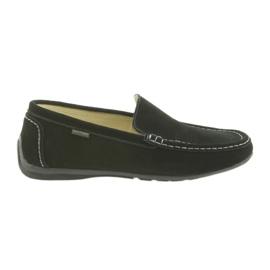 Loafers muške kožne cipele American Club 01/2019 crna