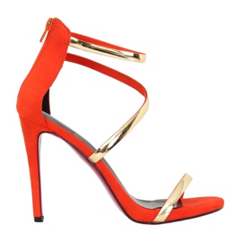 Sandale na narančastoj ivici 988-58 Narančasta