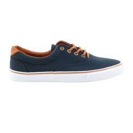 American Club Férfi cipők sötétkék csomózott LH03