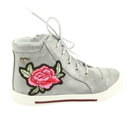 Ren But siva Cipele za cipele djevojke srebrne Ren Ali 3237