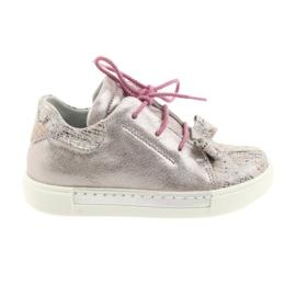 Ren But Rhine bőr cipő 3303 gyöngy rózsaszín