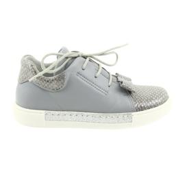 Ren But Ren cipele 3303 cipele od sive kože siva