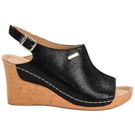 Filippo Lagane sandale na klin crna