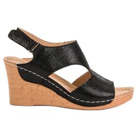 Filippo Crne sandale na klin crna