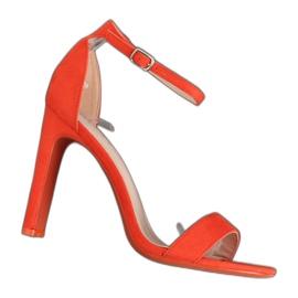 Narančaste sandale s visokom petom NF-37P Narančasta