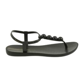 Crna Ipanema sandale za ženske cipele s kuglicama 82517
