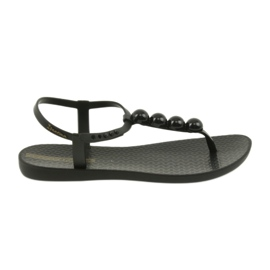 Fekete Ipanema szandál női cipő flip-flops labdával 82517
