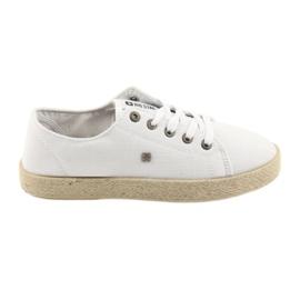 Ballerinas espadrilles ženske cipele bijela Big star 274423