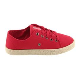 Ballerinas espadrilles női cipő piros Big star 274424
