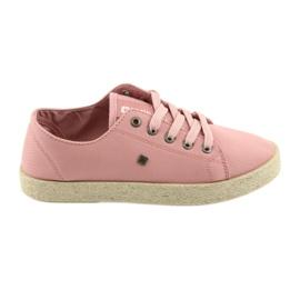 Big Star Ballerinas espadrilles női cipő rózsaszín Nagy csillag 274425