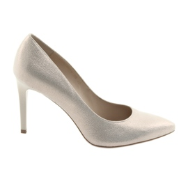 Cipele ženske kožne cipele Anis 4527 žuti