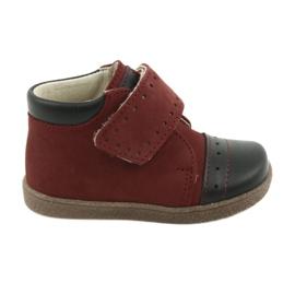 Dječačke cipele s velcro Ren But 1535 bordo