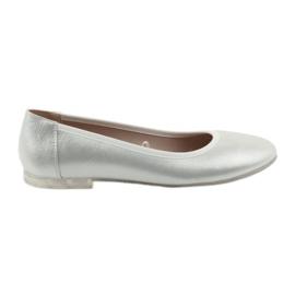 Balerinke cipele za žene srebrne boje Sergio Leone BL607 siva