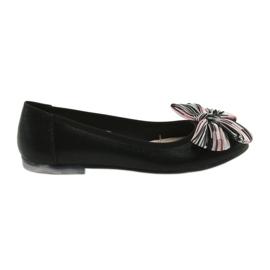 Crna Ženske cipele od balerina s lukom Sergio Leone 605
