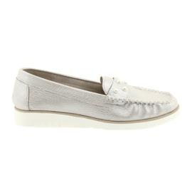 Sergio Leone Loafers női cipő bézs gyöngy