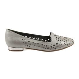 Daszyński smeđ Lordsy ženske elegantne otvorene cipele 151