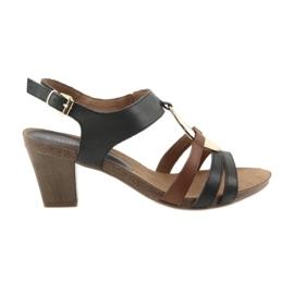 Caprice ženske sandale zlatne ovalne