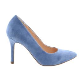 Pumpe na štikle ženske ženske cipele Edeo 3313 plave plava