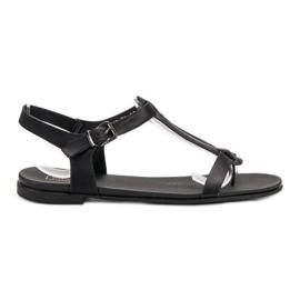 Filippo crna Crne japanske sandale