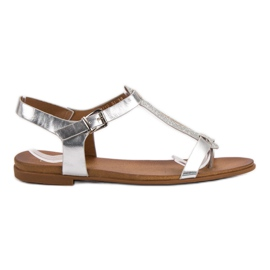 Filippo Srebrne sandale siva