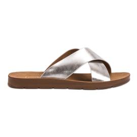 Filippo siva Srebrne papuče s uzorkom