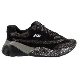 Sportske cipele s brokatnim VICES-om crna
