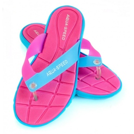 Papucs Aqua-Speed Bali rózsaszín-kék 03 479
