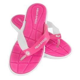 Papucs Aqua-Speed Bali rózsaszín és fehér 05 479
